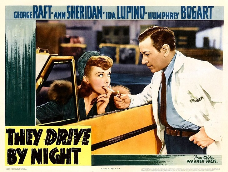 They Drive by Night 1940Lobby Card