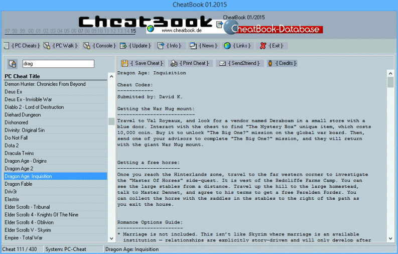 Cheatbook Issue January – 01/2015