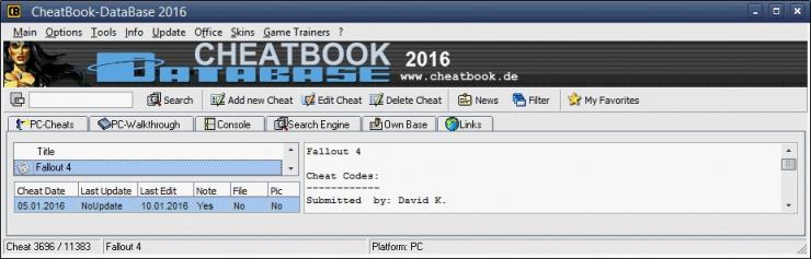 CheatBook-DataBase 2016