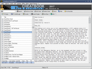 CheatBook-DataBase 2017